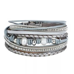 *2 for $25* Fashion Faux Leather Bracelet/cuff